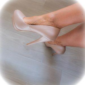 NEW Pavan Nude heels by SHOEDAZZLE!